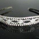 Silver Fancy Headband;Dancer Opera Tiara;Wedding Silver Tiara;Bridal imperial#4356