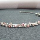 Fancy Silver Headband;Dancer Opera Tiara;Wedding Silver Tiara;Bridal imperial#64p