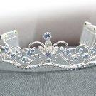 Fancy Silver Headband;Dancer Opera Tiara;Wedding Silver Tiara;Bridal imperial#11ab