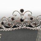 Fancy Silver Headband;Dancer Opera Tiara;Wedding Silver Tiara;Bridal imperial#11pu