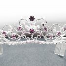 Fancy Silver Headband;Dancer Opera Tiara;Wedding Silver Tiara;Bridal imperial#11Lpu