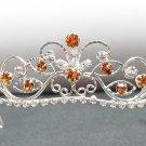 Fancy Silver Headband;Dancer Opera Tiara;Wedding Silver Tiara;Bridal imperial#11Y