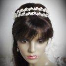 Silver Fancy Headband;Dancer Opera Tiara;Wedding Silver Tiara;Bridal imperial#4854