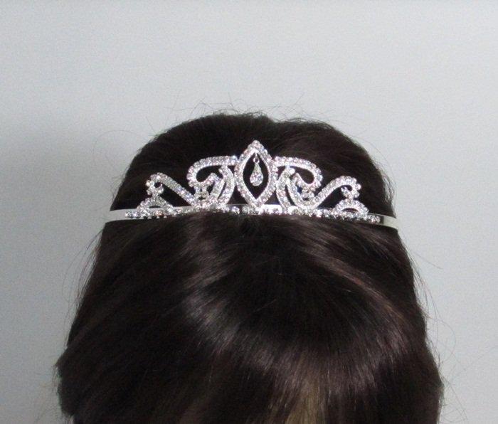 Fancy Silver Headpiece;Dancer Opera Tiara;Wedding Silver Tiara;Bridal imperial#7951