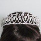 Elegance Headpiece;Dancer Opera Fancy Tiara;Wedding Silver Tiara;Bridal imperial#10639