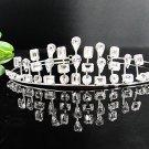 Fancy Silver Headpiece;Dancer Opera Tiara;Wedding Silver Tiara;Bridal imperial#3587
