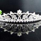 Fancy Silver Headpiece;Dancer Opera Tiara;Wedding Silver Tiara;Bridal imperial#531