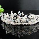 Fancy Silver Headpiece;Dancer Opera Tiara;Wedding Silver Tiara;Bridal imperial#7783