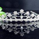 Fancy Silver Headpiece;Dancer Opera Tiara;Wedding Silver Tiara;Bridal imperial#7275