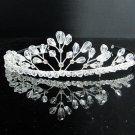 Fancy Silver Headpiece;Dancer Opera Tiara;Wedding Silver Tiara;Bridal imperial#9027