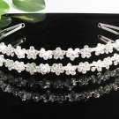 Fancy Silver Headband;Dancer Opera Tiara;Wedding Silver Tiara;Bridal imperial#8958