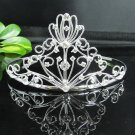 Fancy Silver Headpiece;Dancer Opera Tiara;Wedding Silver Tiara;Bridal imperial#871