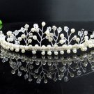 Fancy Silver Headpiece;Dancer Opera Tiara;Wedding Silver Tiara;Bridal imperial#563