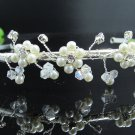 Fancy Silver Headpiece;Dancer Opera Tiara;Wedding Silver Tiara;Bridal imperial#753