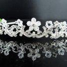 Fancy Silver Headpiece;Dancer Opera Tiara;Wedding Silver Tiara;Bridal imperial#1101