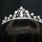 Silver Fancy Headpiece;Dancer Opera Tiara;Wedding Silver Tiara;Bridal imperial#1338