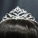 Silver Fancy Headpiece;Dancer Opera Tiara;Wedding Silver Tiara;Bridal imperial#1316