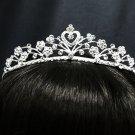 Silver Fancy Headpiece;Dancer Opera Tiara;Wedding Silver Tiara;Bridal imperial#1315