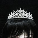 Silver Fancy Headpiece;Dancer Opera Tiara;Wedding Silver Tiara;Bridal imperial#684