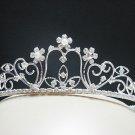 Silver Fancy Headpiece;Dancer Opera Tiara;Wedding Silver Tiara;Bridal imperial#635