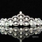 Silver Fancy Headpiece;Dancer Opera Tiara;Wedding Silver Tiara;Bridal imperial#544