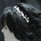 Silver Fancy Headband;Dancer Opera Tiara;Wedding Silver Tiara;Bridal imperial#5697