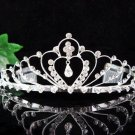 Silver Fancy Headpiece;Dancer Opera Tiara;Wedding Silver Tiara;Bridal imperial#960s