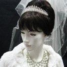 Elegance Wedding Silver Regal;Fancy Headpiece;Fashion Dancer Opera Tiara;Bridal imperial#617