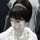 Elegance Wedding Silver Regal;Fancy Headpiece;Fashion Dancer Opera Tiara;Bridal imperial#2073