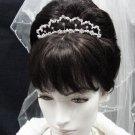 Elegance Wedding Silver Regal;Fancy Headpiece;Fashion Dancer Opera Tiara;Bridal imperial#2083