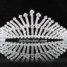 Elegance Wedding Silver Regal ;Gorgeous Headpiece;Fashion Dancer Opera Tiara;Bridal imperial#66