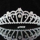 Elegance Wedding Silver Regal ;Gorgeous Headpiece;Fashion Dancer Opera Tiara;Bridal imperial#658