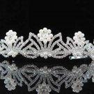 Gorgeous Headpiece;Elegance Wedding Silver Regal ;Fashion Dancer Opera Tiara;Bridal imperial#1547