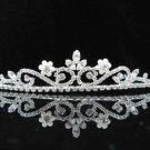 Fashion Dancer Opera Tiara;Gorgeous Headpiece;Elegance Wedding Silver Regal ;Bridal imperial#6812