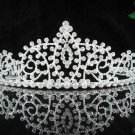 Fashion Dancer Opera Tiara;Gorgeous Headpiece;Elegance Wedding Silver Regal ;Bridal imperial#115