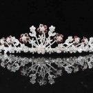 Fashion Dancer Opera Tiara;Gorgeous Headpiece;Elegance Wedding Silver Regal ;Bridal imperial#615