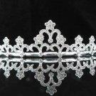 Fashion Dancer Opera Tiara;Gorgeous Headpiece;Elegance Wedding Silver Regal ;Bridal imperial#887