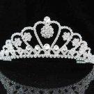 Fashion Dancer Opera Tiara;Gorgeous Headpiece;Elegance Wedding Silver Regal ;Bridal imperial#150