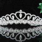 Fashion Dancer Opera Tiara;Gorgeous Headpiece;Elegance Wedding Silver Regal ;Bridal imperial#191