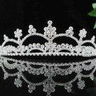 Gorgeous Headpiece;Fashion Dancer Opera Tiara;Elegance Wedding Silver Regal ;Bridal imperial#199