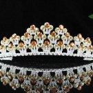 Gorgeous Headpiece;Fashion Dancer Opera Tiara;Elegance Wedding Silver Regal ;Bridal imperial#407