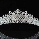 Gorgeous Headpiece;Fashion Dancer Opera Tiara;Elegance Wedding Silver Regal ;Bridal imperial#542