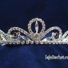 Gorgeous Headpiece;Fashion Dancer Opera Tiara;Elegance Wedding Silver Regal ;Bridal imperial#63s