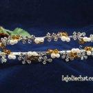 Twin Layer Bridal Headband;Fashion Dancer Opera Tiara;Elegance Wedding Silver Regal#4054y