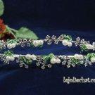 Twin Layer Bridal Headband;Fashion Dancer Opera Tiara;Elegance Wedding Silver Regal#4054gr