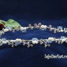 Twin Layer Bridal Headband;Fashion Dancer Opera Tiara;Elegance Wedding Silver Regal#4054s