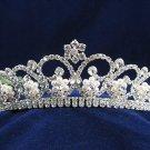 Gorgeous Headpiece;Fashion Dancer Opera Tiara;Elegance Wedding Silver Regal ;Bridal imperial#790