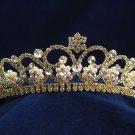 Gorgeous Headpiece;Fashion Dancer Opera Tiara;Elegance Wedding Golden Regal ;Bridal imperial#790g