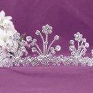 Gorgeous Headpiece;Fashion Dancer Opera Tiara;Elegance Wedding Silver Regal ;Bridal imperial#282