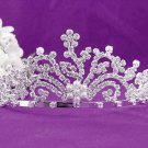 Bridal imperial;Gorgeous Headpiece;Fashion Dancer Opera Tiara;Elegance Wedding Silver Regal#428